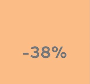 minus 38% arrow