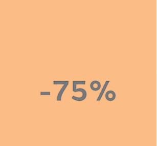minus 75% arrow
